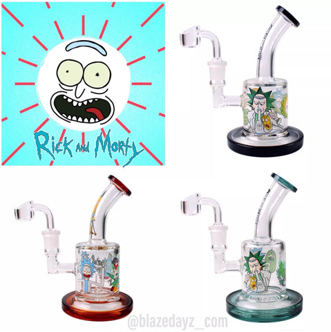 "6.5"" Rick And Morty Water Pipe Banger LIMITED Bundle!"