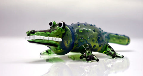 "6"" 3D Art Alligator Hand Pipe 🐊"