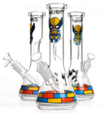 "10"" 5mm 3D Art Marvel Superhero Water Pipe Collection"