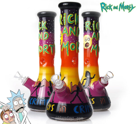 "12.5"" Rick And Morty 3D Art Exclusive Character Water Pipe"