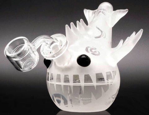 "5"" Piranha Sandblasted Water Pipe - (Banger + Bowl) Bundle!"