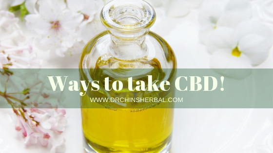 Ways to take CBD