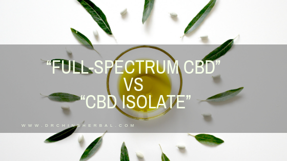 """Full-Spectrum CBD"" vs ""CBD Isolate"""
