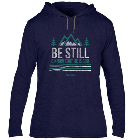 Kerusso® Adult Hooded T-Shirt - Be Still and Know