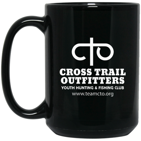 CTO - Cross Trail Outfitters 15 oz. Black Mug