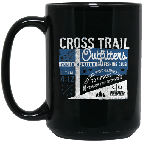 CTO - Cross Trail Outfitters Vintage Sign 15 oz. Black Mug
