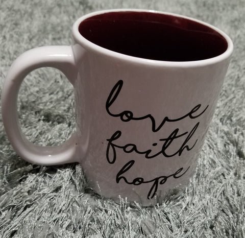 LOVE, FAITH, HOPE MUG (Only 1 Left) - Prime Printing by MSM