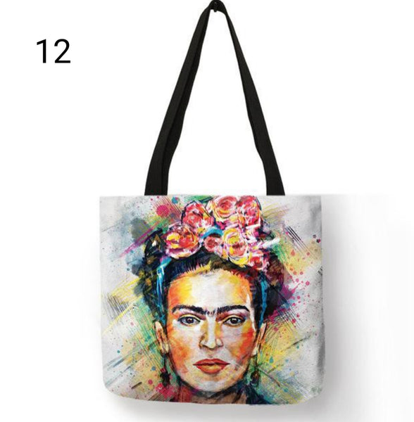 Frida Kahlo Printed Tote Bag - Prime Printing by MSM