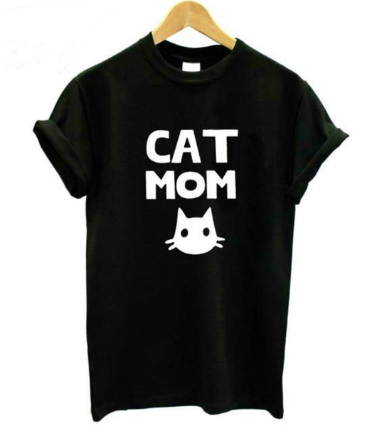 Women's Cat Mom Printed T-shirt - Prime Printing by MSM