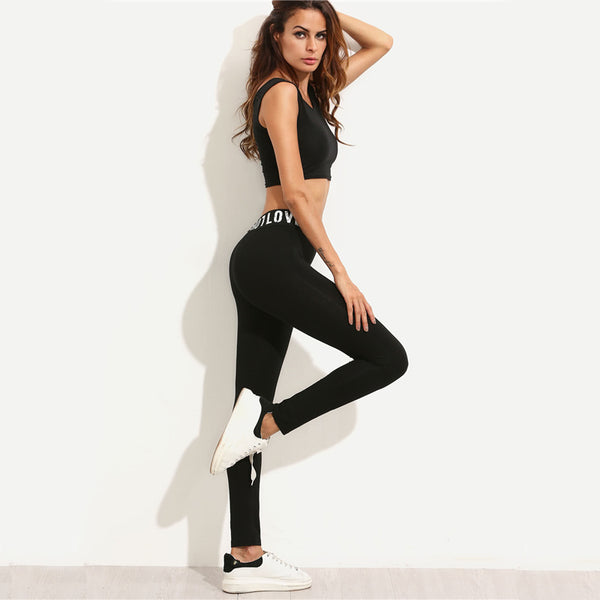Love Slogan Leggings - Prime Printing by MSM