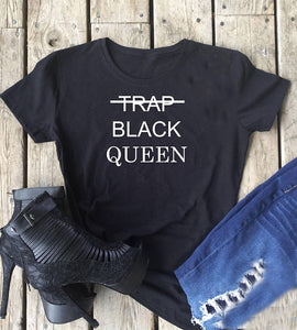 Trap Black Queen T-shirt - Prime Printing by MSM