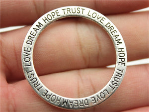 Dream Trust Faith Love Circle Charms - Prime Printing by MSM