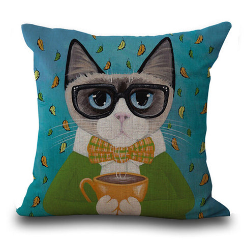 Decorative Cat Pillowcase - Prime Printing by MSM