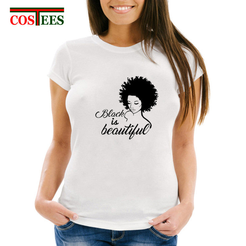Classic Black Is Beautiful T-shirt - Prime Printing by MSM