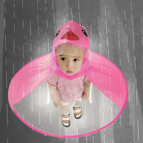 Children's Raincoat / Poncho Umbrella Hat - Prime Printing by MSM