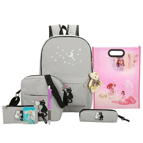 8 pcs cute animal star printing backpack for girls - Prime Printing by MSM