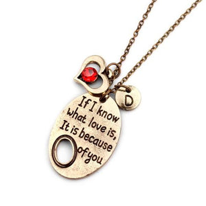 Love Because Of You Necklace - Prime Printing by MSM