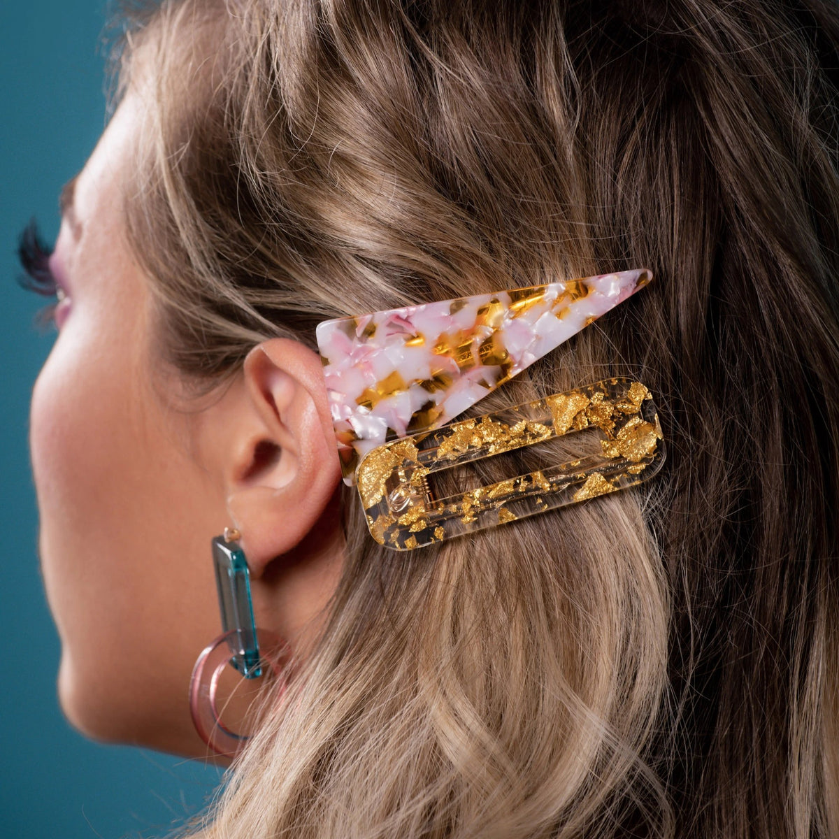 Triangle Confetti Barrettes