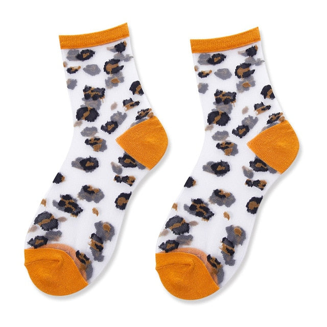 Orange Cheetah Socks