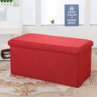 Foldable Storage Box Stool - Fabric 76x38x38