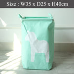 Foldable Laundry Basket - Mint Horse