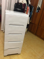 MUSD 10 - 5 Layer Drawer No Lock - White Colour