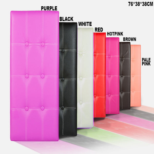 Foldable Storage Box Stool - PU 76x38x38