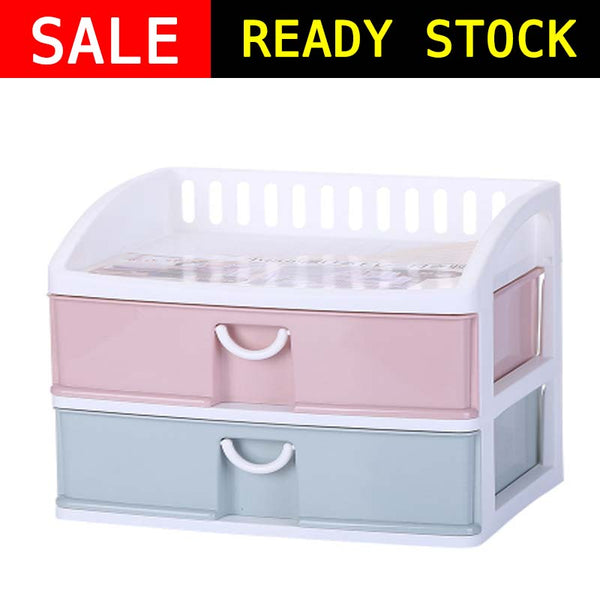 SB2 B - 2 Layer Storage Box / Shelf Organiser / Bathroom Make up drawer