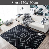 Big Soft Scandi Rug ( Don't worry be happy )