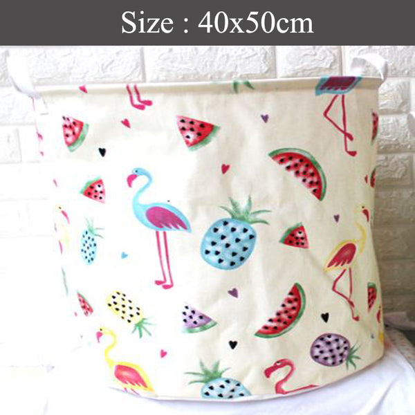 FOLDABLE LAUNDRY BASKET BAG - Fruits