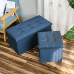 Foldable Storage Box Stool - Fabric Jeans 76x38x38