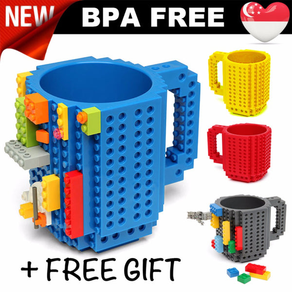 Build-On Brick Mug* BPA FREE* customise your own design