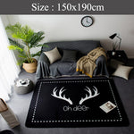Big Soft Scandi Rug (  OH Deer )