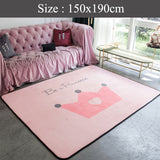 Big Soft Scandi Rug (  Pink Crown )