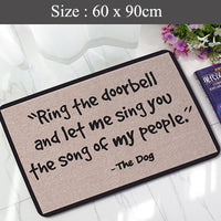 Funny Rubber Floor Mats (Sing Song) Non Slip Rug Pad Cushion