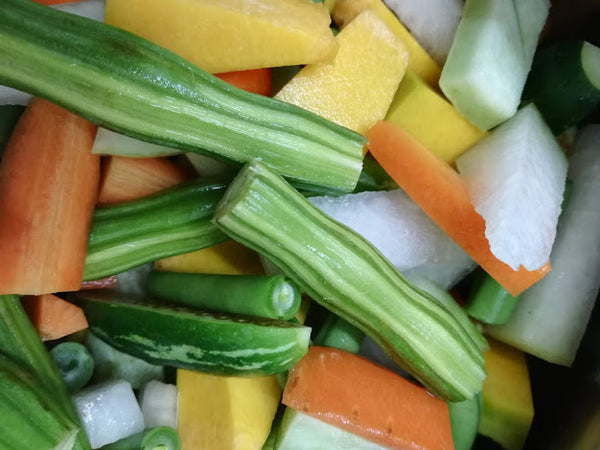 Organic Cut vegetables for Avial