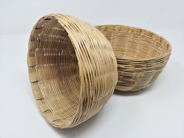 Hand Crafted Bamboo Basket (100% Biodegradable)