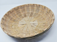 Hand Crafted Bamboo Utility Basket Big (100% Biodegradable)