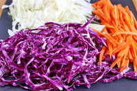 Organic Shredded Carrot,Red & Green Cabbage