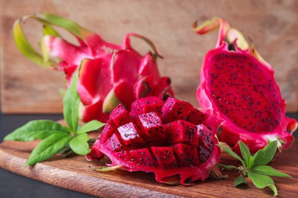 Organic Dragon Fruit Red Diced