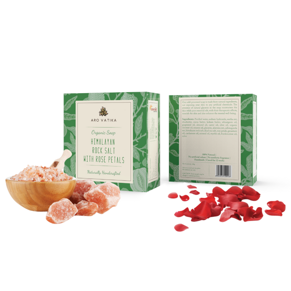 Organic Himalayan Rock Salt with Rose Petals (Herbal)