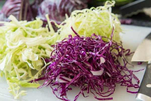 Organic Shredded Red & Green Cabbage