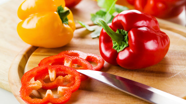 Organic Red Bell Pepper Sliced