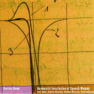 Carrier Band - Automatic Inscription Of Speech Melody (CD)