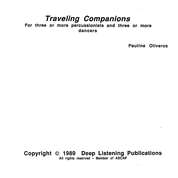 Pauline Oliveros: Traveling Companions