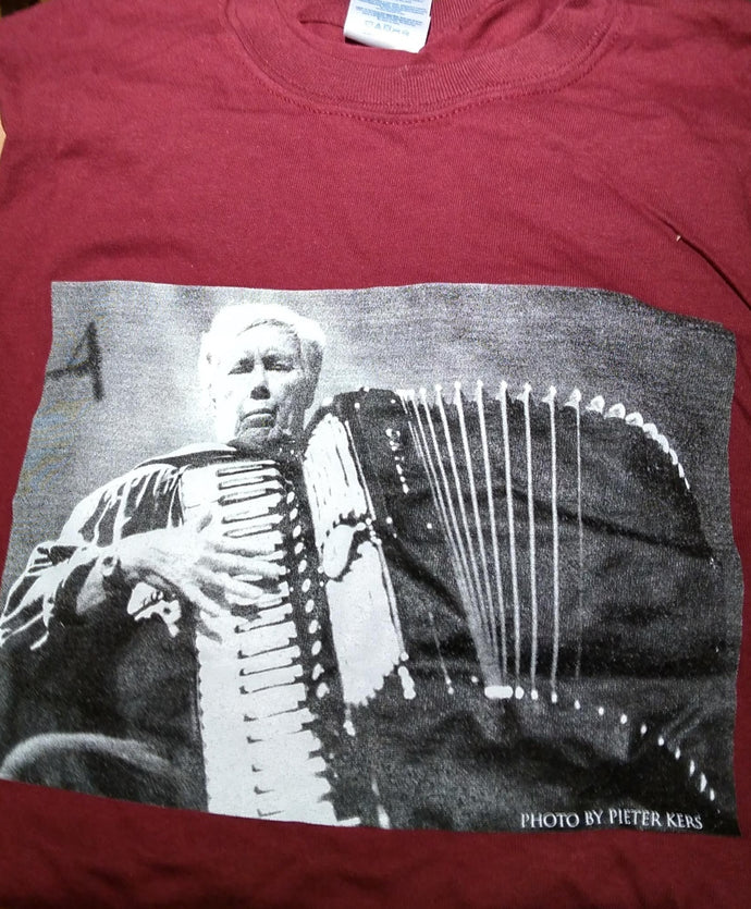 Pauline Oliveros 80th Birthday Tee shirt - Accordion - Size Large