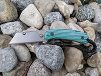 Banzelcroft Customs MEK, titanium EDC utilility knife with '57 Chevy maze micarta handle.