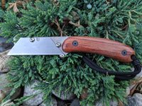Banzelcroft Customs MEK, titanium EDC utility knife with bubinga wood handle.