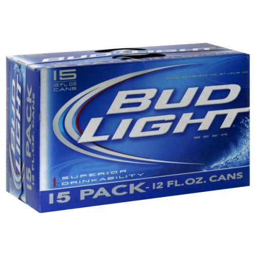 BUD LIGHT 15PK CANS