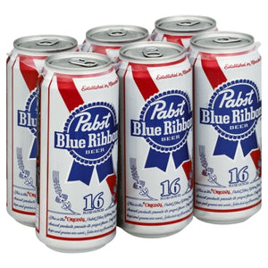 PABST BLUE RIBBON 6 Pack 16OZ CANS